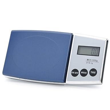Digital Báscula 0,1/500gr Diamond Modelo 500 con pantalla LCD, función de