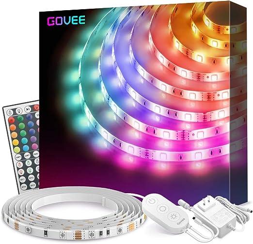 Led Strip Lights Govee 16 4ft Waterproof Rgb Light Strip Kits With Remote For Room Bedroom Tv Kitchen Desk Color Changing Led Strip Smd5050 With