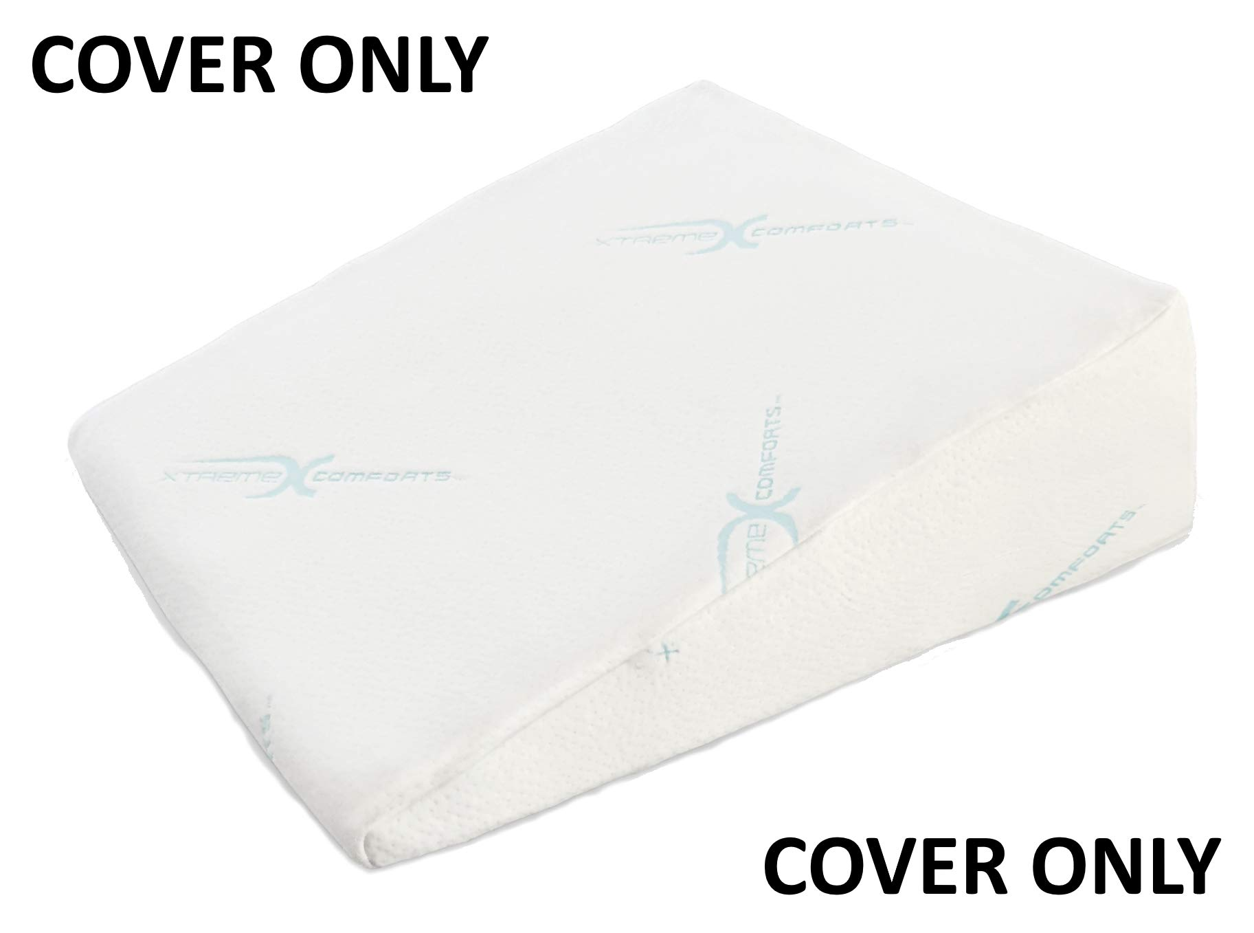 Xtreme Comforts Hypoallergenic Memory Foam Bed Wedge Bamboo Cover Designed to Fit Our (27 'x 25'' x 7'') Bed Wedge Pillow