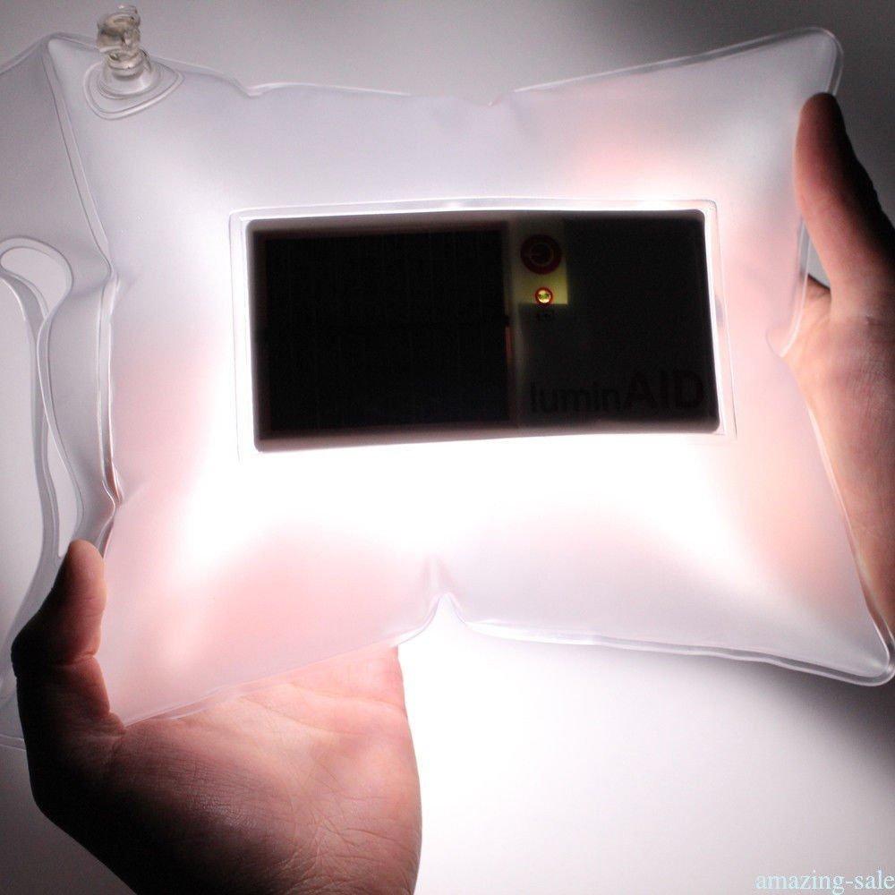 FidgetFidget Lamp Outdoor Solar Powered Inflatable Camp Light Portable Survival Waterproof