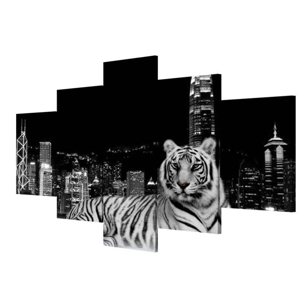 JJH-ENTER Extra Large Leinwanddrucke Wolf malerei kunst leinwand wohnzimmer dekoration malerei wandmalerei , With Borders , GrößeA B07BHD5HB6 | Sonderangebot