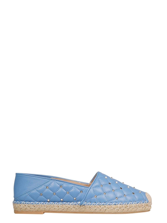 - VALENTINO Women's RW2S0K03YEXGY7 Light bluee Leather Espadrilles