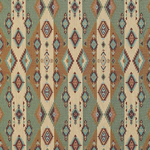 J9600H Southwestern Stripes and Diamonds Woven Decorative Novelty Upholstery Fabric by The Yard ()