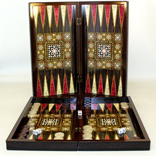 World Wise Mother of Pearl Decoupage Backgammon Set
