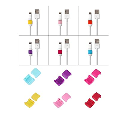 SYGA Charger Cable Saver Protector for Mobile Laptop Macbook Charge Cable Saver and Fixer(2 Pcs, Assorted Colors)