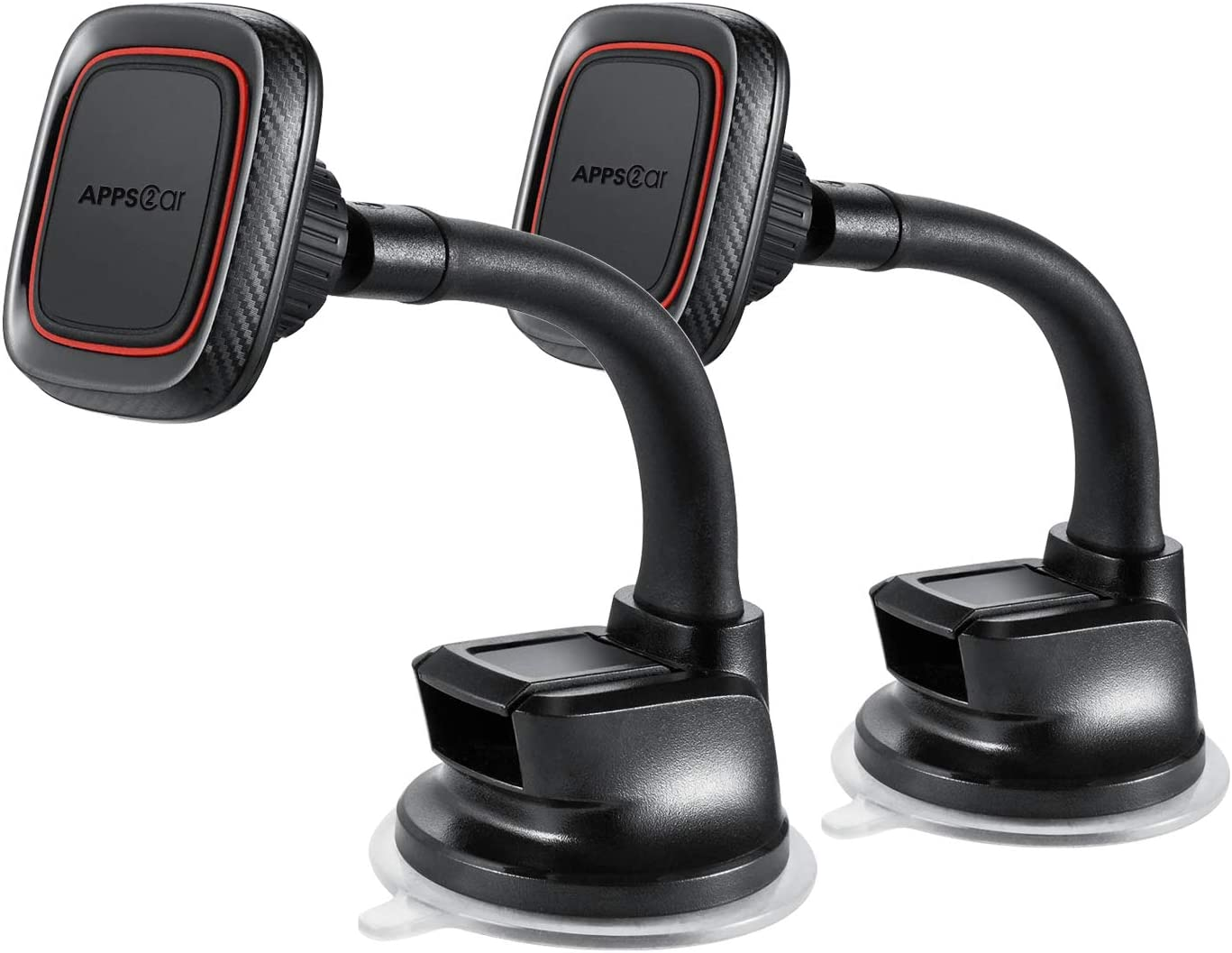 2 Pack Ultimate Flexible Arm Magnetic Dash Mount Windshield Phone Holder w//Strong Sticky Suction Cup Compatible with iPhone Xs Max X 8 7 Plus Samsung Galaxy S9 S8 Edge Note 8 Huawei P20 pro Sony Z5