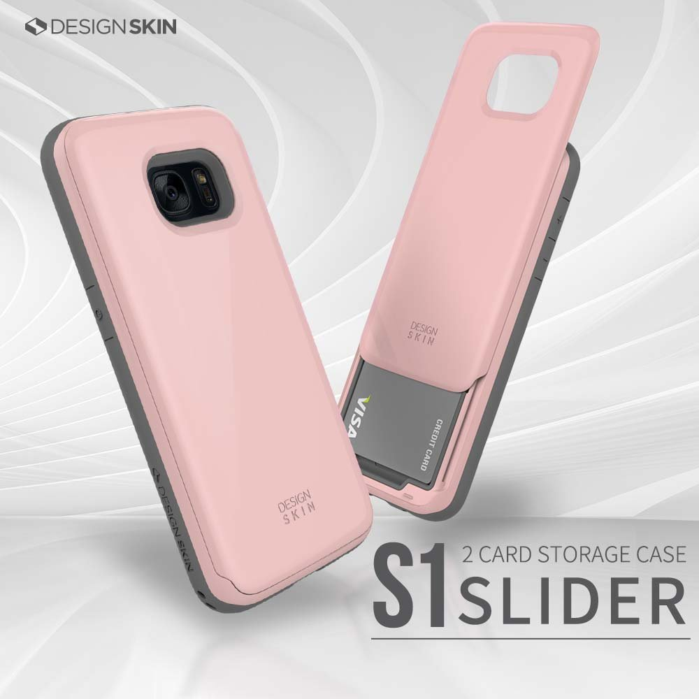 Galaxy S7 Case Designskin Slider Sliding Card Holder Goospery Iphone 7 Plus Sky Slide Bumper Rosegold Slot Extreme Heavy Duty 3 Layer Protection Wallet Cover With