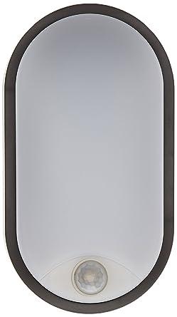 Tibelec 342120 – ojo de buey LED ovalado con detector de movimiento, plástico, 10