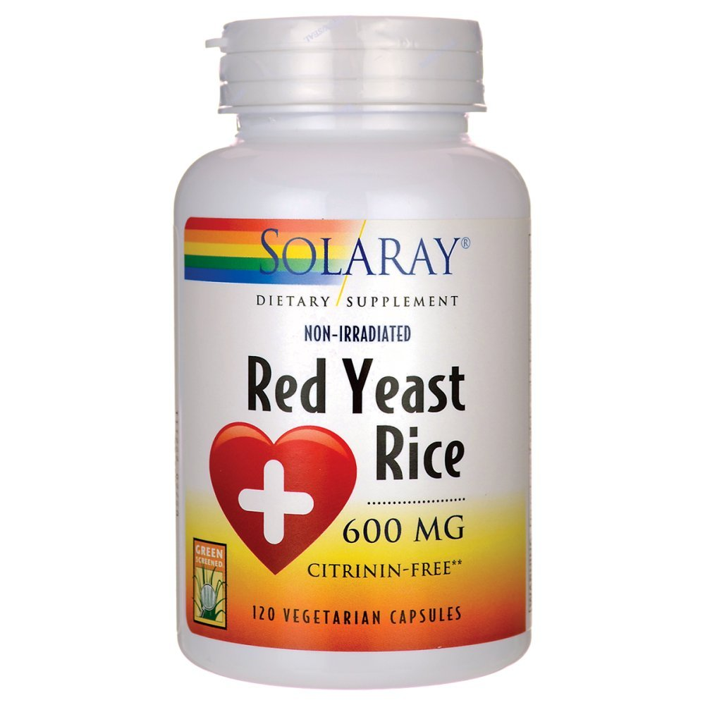 Solaray Red Yeast Rice, 600 mg, 120 Count