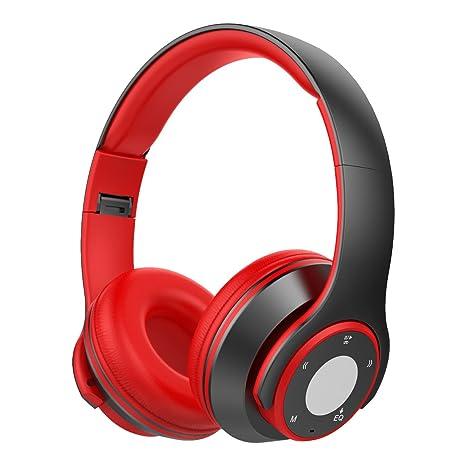Cascos Bluetooth Inalámbricos, Macrourt Auriculares Plegables con Micrófono, Cascos para Móvil y MP3 Reproducir