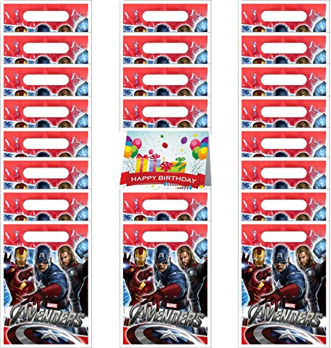 Marvel The Avengers Party Favor Treat Bags Bundle Pack of 24 - Thor Treat Bag