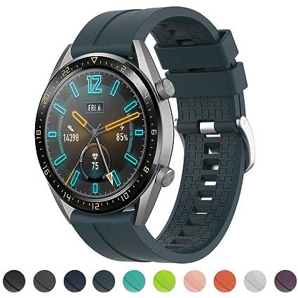 Tosenpo Correa Huawei Watch GT Active/Huawei GTR 42 mm, Correa Ajustable de Repuesto para Huawei Watch GT Active/Watch 2 Pro Huawei GTR 42 mm