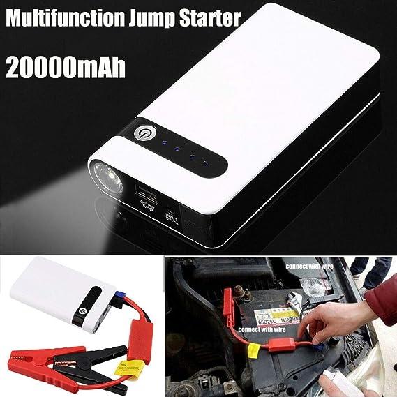 Portable Car Jump Starter Booster Jumper Box Power Bank Battery Charger 18000mAh
