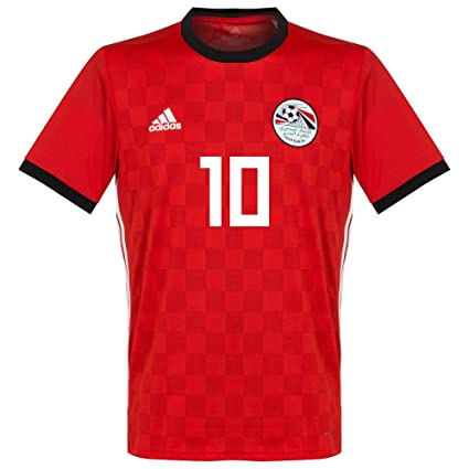 acf229f32f3 Amazon.com   adidas Egypt Home M. Salah Jersey 2018 2019 (Official ...