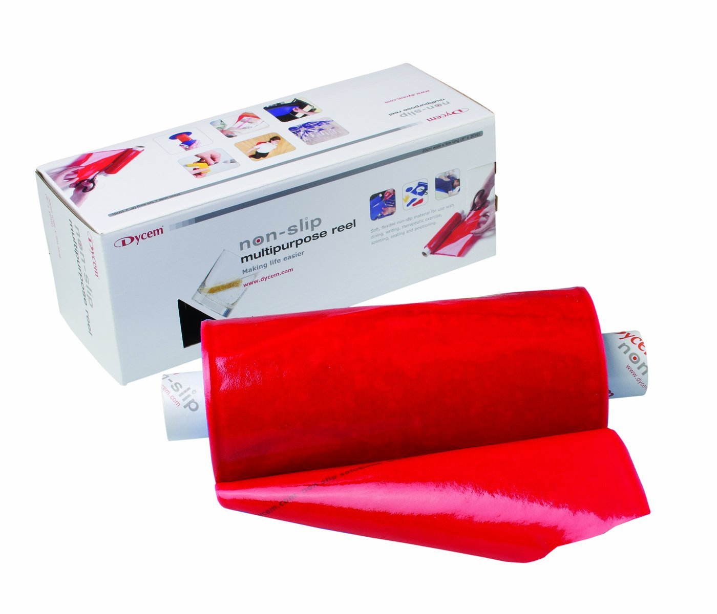 FEI 50-1505R Dycem Non-Slip Material Roll, 16'' Width, 10 yd, Red
