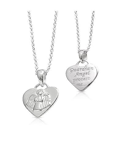 Holy communion gift sterling silver guardian angel heart pendant holy communion gift sterling silver guardian angel heart pendant christening gifts aloadofball Choice Image