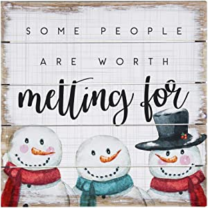 Simply Said, INC Perfect Pallets Petites - Some People are Worth Melting for, 8x8 in Wood Sign PET19728