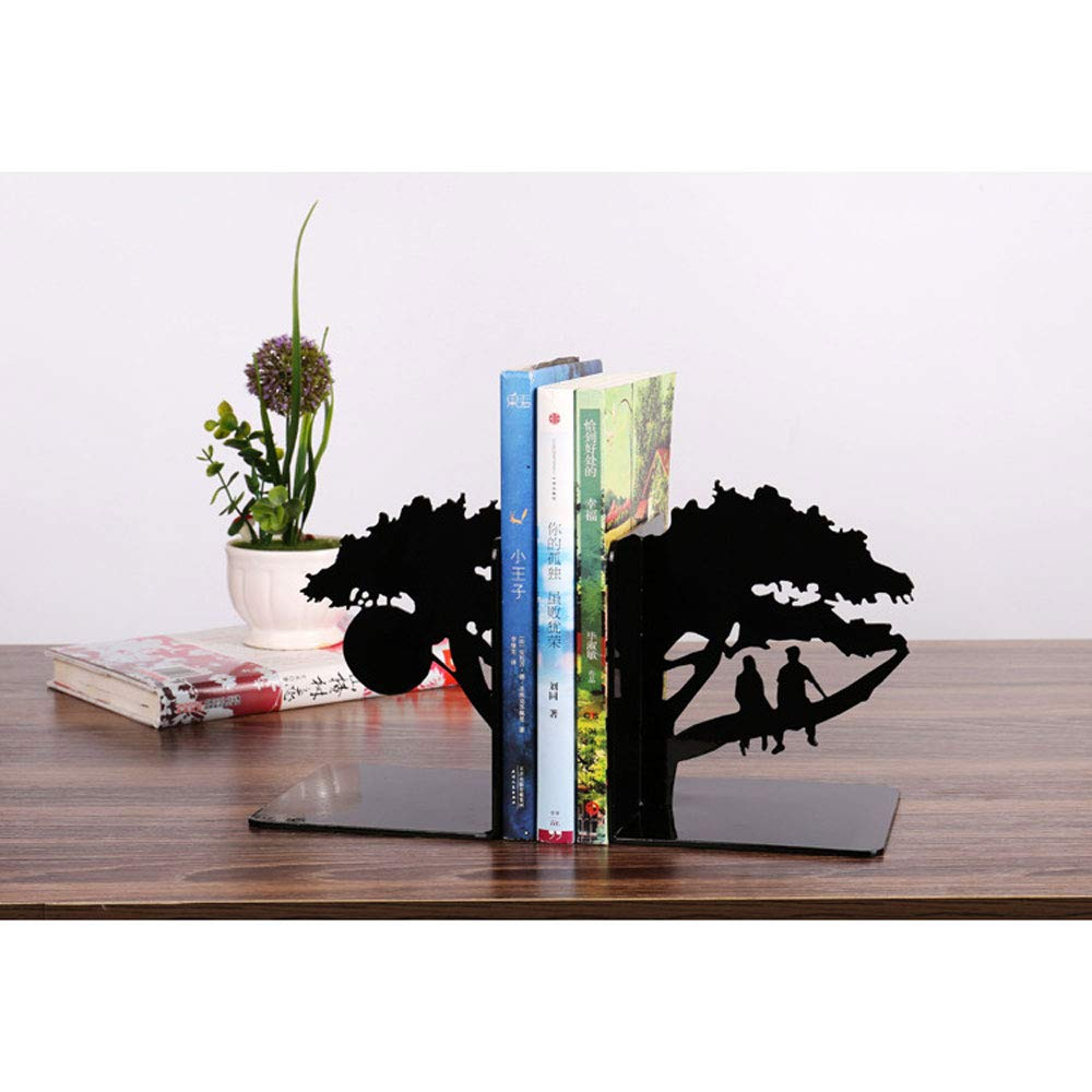Swing around Book Ends Metal Desktop Book Stand Student Book Block File Desk Finishing Book by Book Holder Decoration Bookend by Swing around