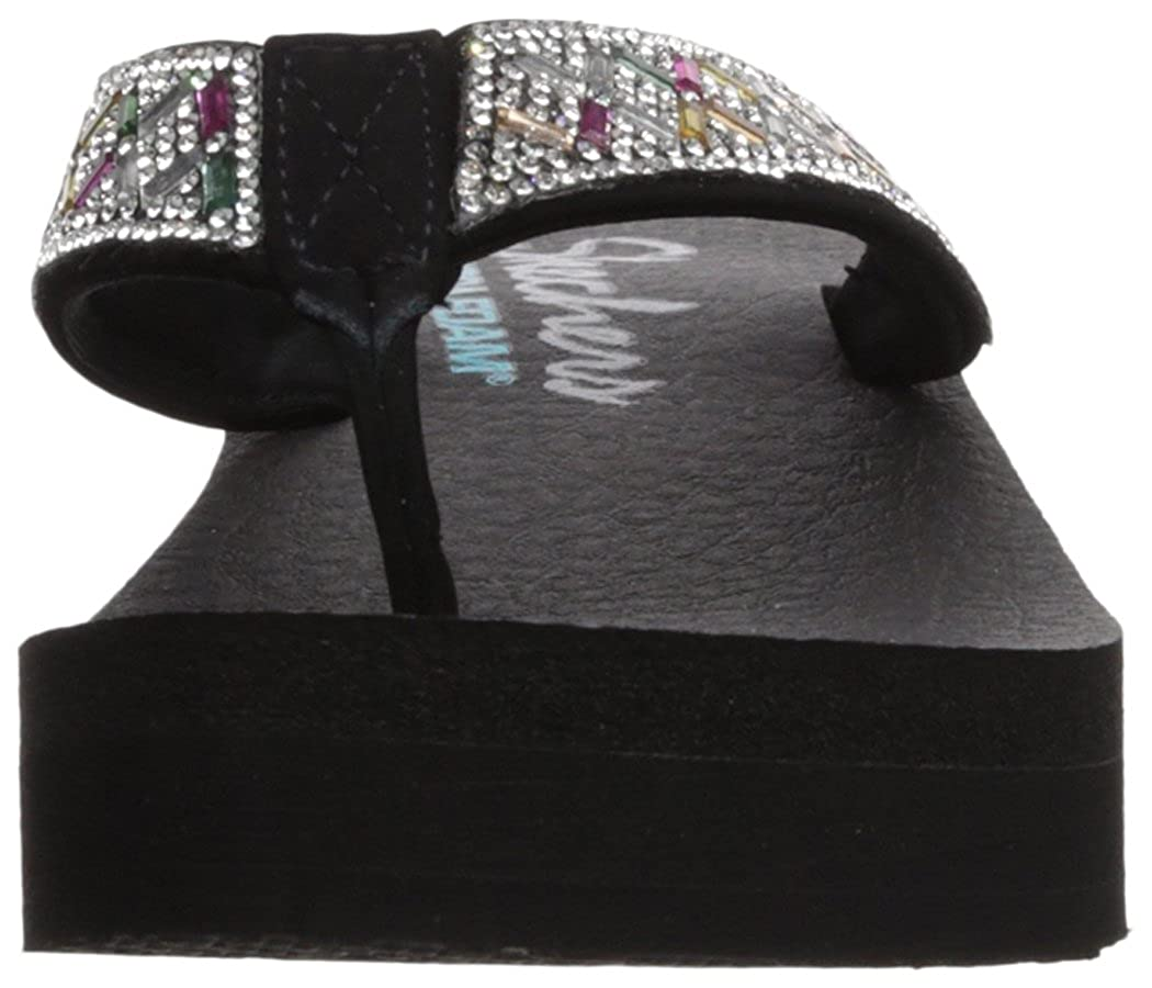 e7ae03ca3885 Product description. Geometric rhinestone thong with yoga foam. Skechers  Womens Vinyasa-Lotus Princess Flip-Flop 38653