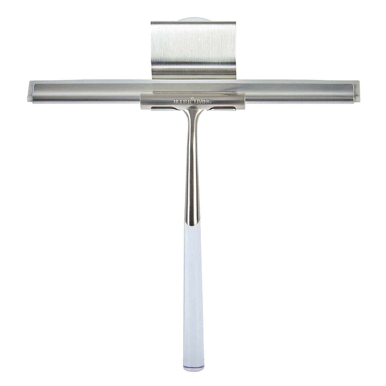 Better Living Products 18099 Linea Luxury Shower Squeegee, Brushed Nickel with Stainless Steel
