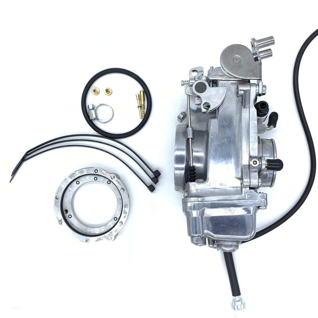 Topker Motorcycle Engine HSR42mm Carburetor Replacement for Davidson Evo Twin Cam TM42 90-96 883 by Topker (Image #4)