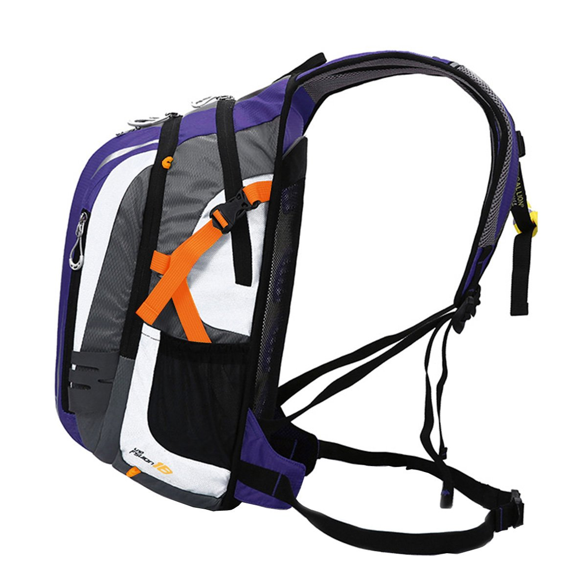 Outdoor Sports Cycling Hiking Camping Travel Daypack, Water resistant, 18L(purple) by YOGOGO (Image #3)