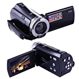 PowMax ビデオカメラ ポータブルビデオカメラ HD最大 1600万画素 1280*720P 2.7インチ液晶ディスプレイ 270度回転スクリーン SDカード