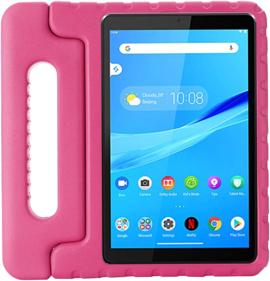 i-original Compatible with Lenovo Tab M8(TB-8705F) 8 Inch Case,Shockproof EVA Case for Kids Bumper Cover Handle Stand,Convertible Handle Lightweight Protective Cover (Magenta)