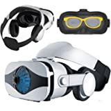 Virtual Reality Headset VR Glasses, VR Goggle Viewer w/ Headphone for iPhone 11 Pro XS Max XR X 8 + Samsung Galaxy S10 S9 S8