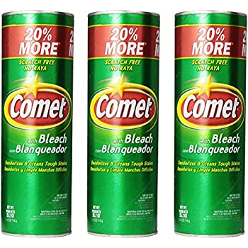 Comet Cleanser with Bleach 25.2 Oz (Pack of 3)