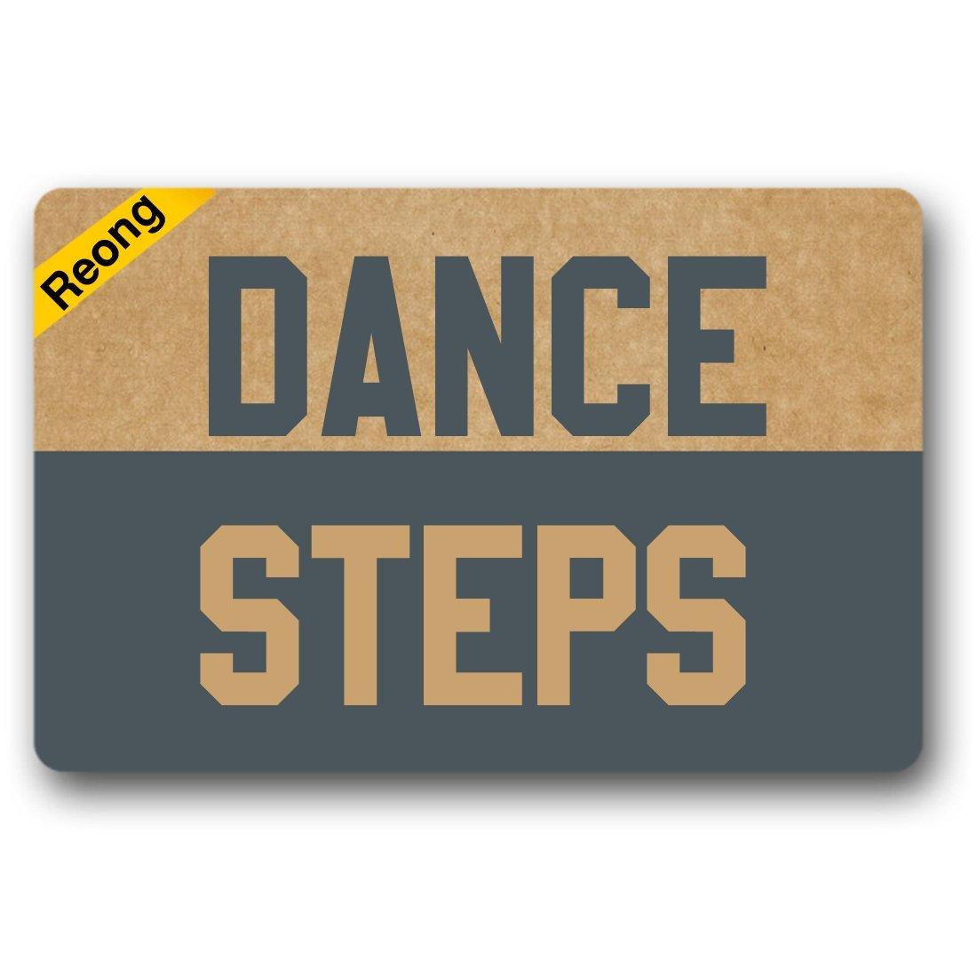 Reong Dance Steps Door Mat Funny Doormat Welcome Mat Home Decor Entrance Floor Mat Non-slip Doormat 23.6 by 15.7 Inch