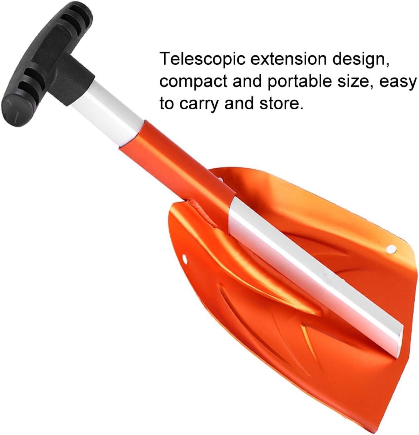 Garage Orange Voiture Asixxsix Pelle /à Neige Outil de d/éneigement de Pelle /à Neige dhiver t/élescopique Amovible Portable en Alliage daluminium pour all/ée ext/érieure
