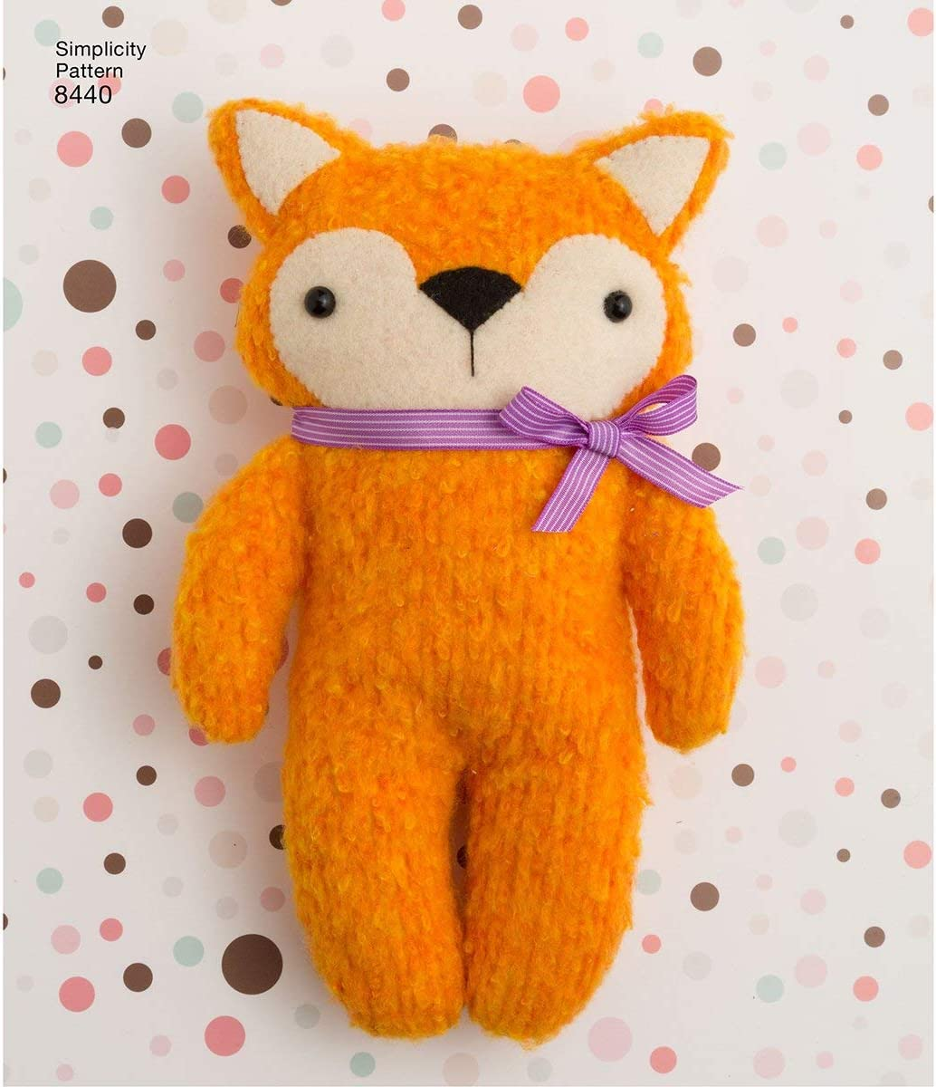 Simplicity Stuffed Animal Sewing Patterns for Children, One Size Only