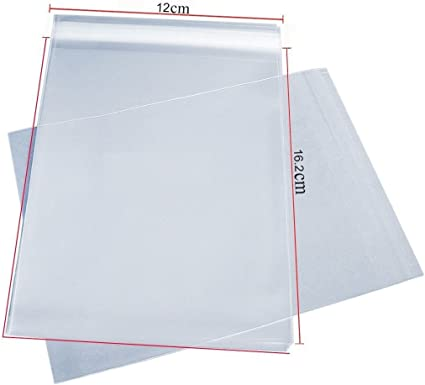 """250 7/"""" x 5/"""" Cello Bags for Greeting Cards Clear Cellophane Peel /& Seal Bags"""