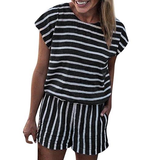 8f404b63 Amazon.com: Ankola Romper Jumpsuit, Women's Summer Striped Jumpsuit ...