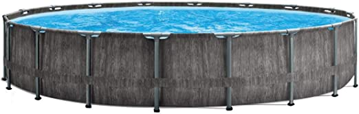Marimex Piscina Florida Premium Greywood I Piscina de Pared de Acero para jardín I 4, 57x1, 22 m I con Accesorios (filtración de Cartuchos, Filtro de inserción, escalones, tapete de Piscina, Lona):
