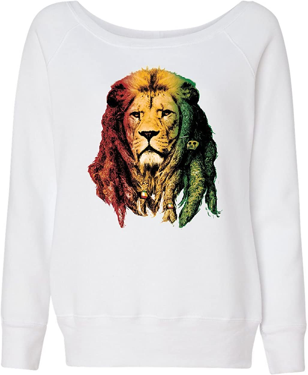 Rasta Lion Jah Women/'s V-Neck T-Shirt Smoking 420 Dreads Reggae Jamaica Weed