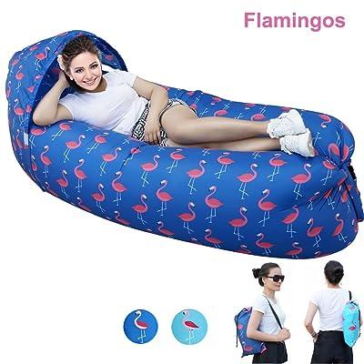 2018mise à niveau Version pour rapide gonflable Chaise longue, Kkg® Portable étanche Lazy gonflable Air Sac de couchage/canapé/lit/bateau avec épais Tissu en nylon, pour le camping, rando