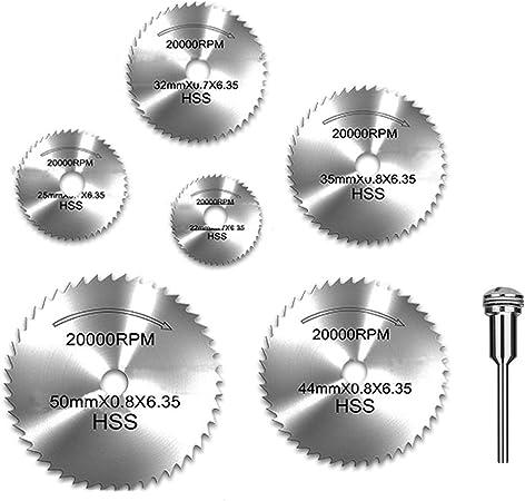 6Pcs Sharp Stainless Steel Grinding Wheel Saw Blade Mandrel Set Tools Kit