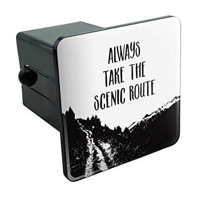 "Graphics and More Always Take The Scenic Route Hiking Travel Tow Trailer Hitch Cover Plug Insert 2"": Automotive"
