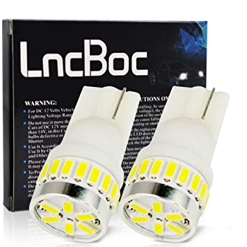 LncBoc T10 501 Bombillas LED Coche 24SMD 3014LED W5W 2825 175 192 168 194 Wedge Lampara