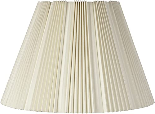 Eggshell Pleated Bell Shade 9.5x19x13 Spider – Brentwood
