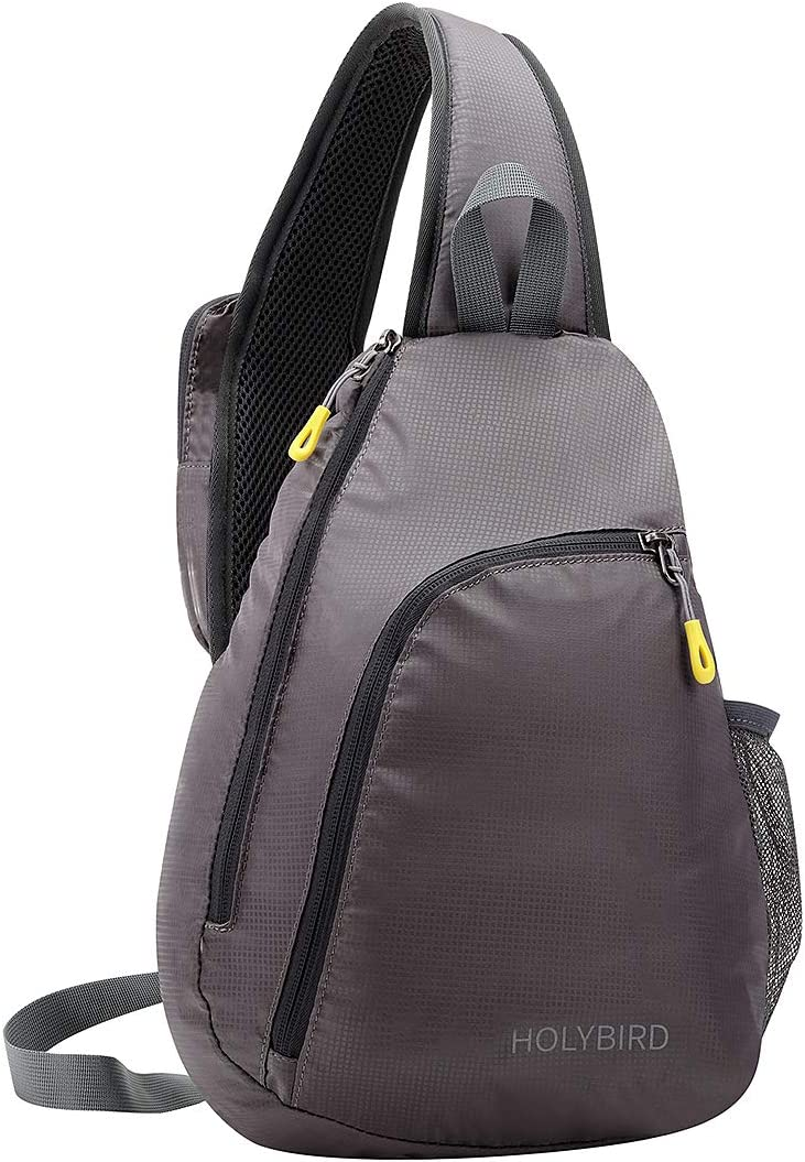 HOLYBIRD Shoulder Sling Bag Chest Backpack Crossbody Lightweight Travel Hiking Daypacks for Men Women Teens