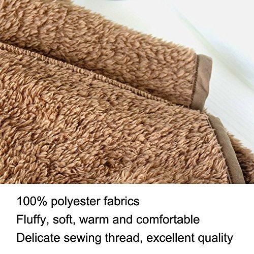 Clearance Sale Lapel Fuzzy Sweater for Women Warm Fluffy Fleece Cardigan Loose Open Front Coat Long Sleeve Outwear (Coffee, M) by TOOTO (Image #4)