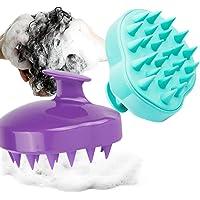 2 Pack Manual Scalp Massager, YanYoung Scalp Scrub Brush, Shampoo Brush Hair Scalp Massage Brush with Easy Handle,Soft…
