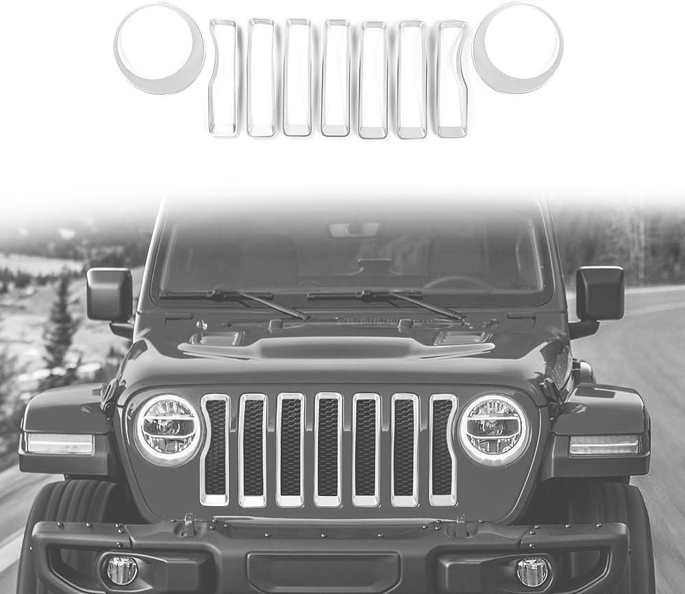 RT-TCZ for Jeep JL Hood Vents Cover Trim Decor ABS Decorative Cover for Jeep Wrangler JL Accessories 2018 2019 2020 JL /& JT Gladiator Carbon Fiber