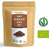 Roh Kakao Nibs Bio 900g   Organic Raw Cacao Nibs   100% Rohkost, natürlich und rein   Produziert in Peru aus der Theobroma Cocoa Pflanze   Superfood reich an Antioxidantien, Mineralien und Vitaminen.