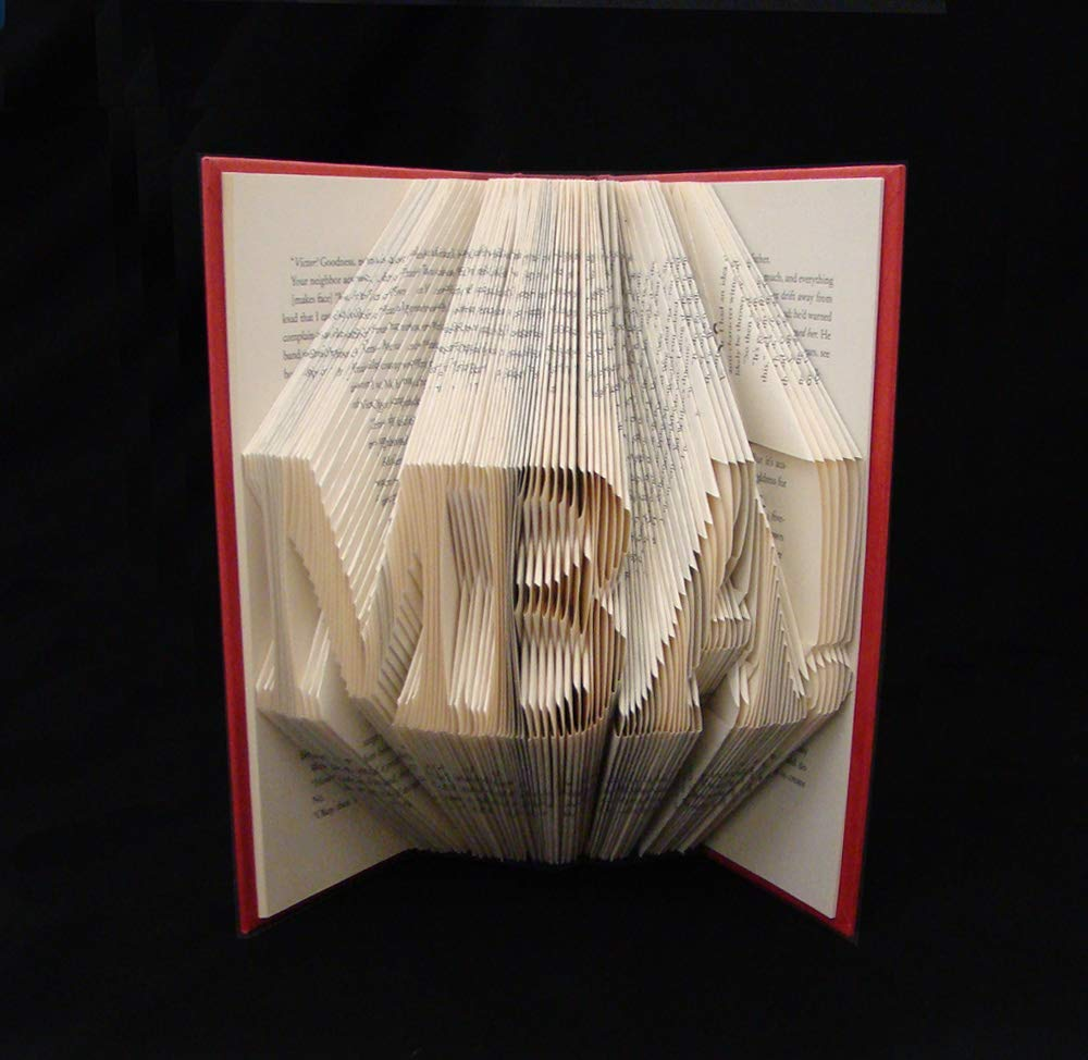 DNP 3 Letters Doctor of Nurse Practice Graduation Gift Folded Book Art Sculpture you choose three letters