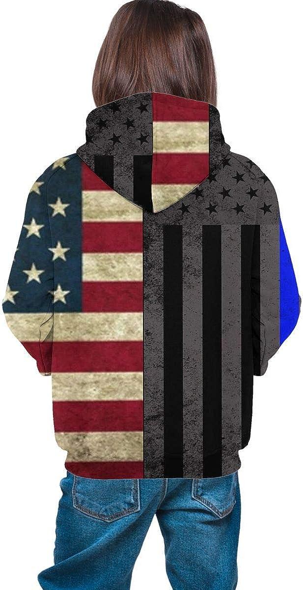 Kids Hoodie Different Kind America Flags Soft Hooded Sweatshirt Loose Pull Over Hoodie