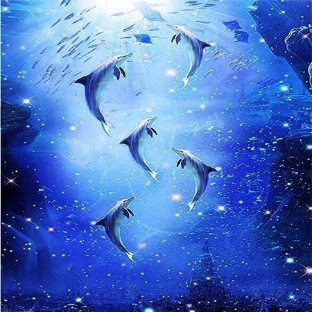 zhensi sfondi 3d murales 3d arte moderna cielo blu delfino mare wallpaper per soggiorno camera da letto soffitto sfondi murali carta da parati215 h 290 w cm amazon it casa e cucina zhensi sfondi 3d murales 3d arte